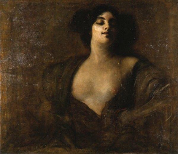 """Skąd taka ilość zdrad w starożytnej Grecji? Czyżby żony nie zadowalały mężczyzn? A może przeciwnie - to mężowie nie spełniali oczekiwań kobiet? Niezależnie od powodów, faktem jest, że cudzołóstwo w antyku było powszechne. Na ilustracji obraz Franciszka Żmurki """"Hetera""""."""