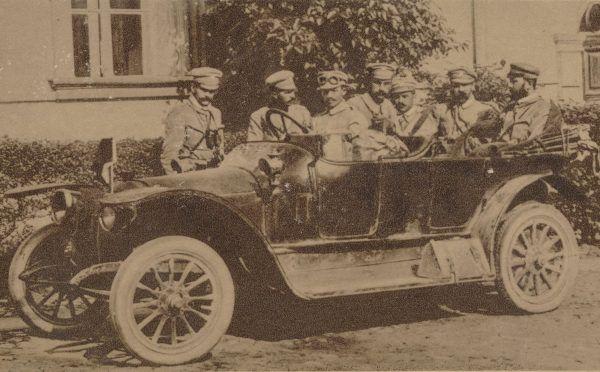 Sztab 1 Pułku Piechoty w Kielcach. Sierpień 1914 roku.