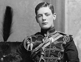 Winston Churchill na zdjęciu wykonanym w 1895 roku.