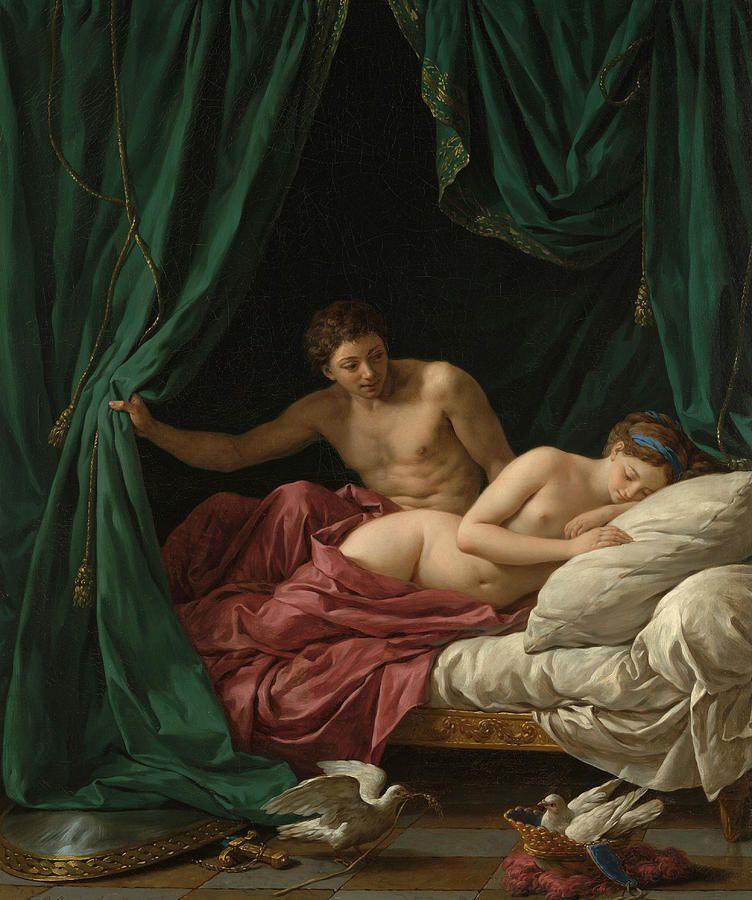 """Antykoncepcja w starożytności dotyczyła obojga płci. Mężczyźni nie tylko używali prototypów współczesnych kondomów, ale i poddawali się zabiegom """"sterylizacji"""". Obraz Louisa-Jeana Francoisa Lagrenee """"Mars i Wenus""""."""