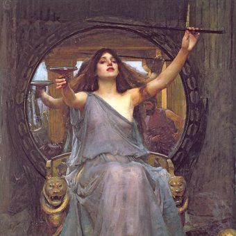 """Z problemami sercowymi starożytni nie udawali się do lekarzy. Najbardziej pomocne były... czarownice. Na ilustracji fragment obrazu Johna Williama Waterhouse'a """"Czarodziejka""""."""
