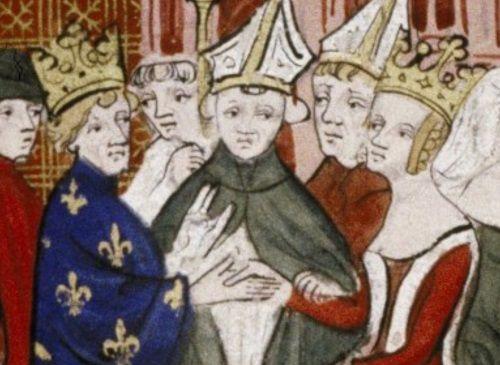Ślub Ludwika VIII i Eleonory Akwitańskiej na XIV-wiecznej miniaturze