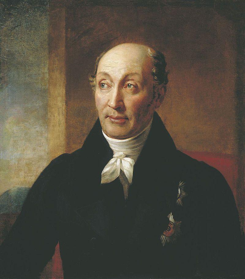 Michaił Spieranski był rosyjskim politykiem, którego w 1819 roku mianowano gubernatorem Syberii. Wprowadził wtedy szereg reform wzmacniających tamtejszą administrację państwową, a w 1822 roku polepszył warunki zesłania. Portret pędzla Aleksandra Warńka.
