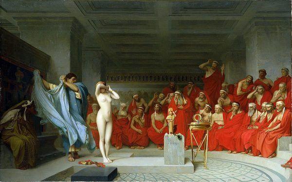Niektóre hetery robiły prawdziwą karierę. Wydawały seks-poradniki, angażowały się w politykę, a nawet zostawały kobietami ateńskich wodzów. Na ilustracji obraz Jean-Léona Gérôme przedstawiający proces Fryne, najsłynniejszej greckiej hetery.