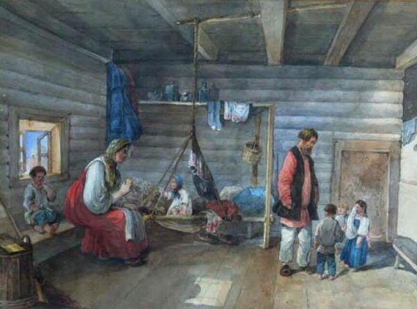 Warunki higieniczne, w jakich żył motłoch w carskiej Rosji były zatrważające. Rosyjski chłop musiał dzielić jedną izbę z kilkoma członkami rodziny oraz z bydłem.