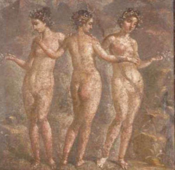Podczas gdy Grecy wyśmiewali się z lesbijek, Rzymianie nie mieli żadnej tolerancji dla homoseksualnych związków między kobietami... Na ilustracji fragment pompejskiego fresku.