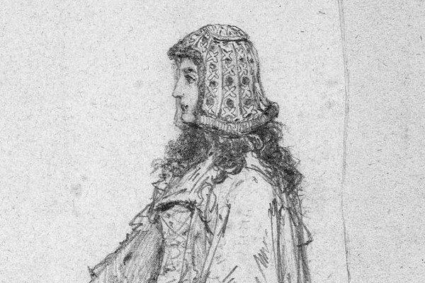 Adelajda Heska na szkicu Jana Matejki.