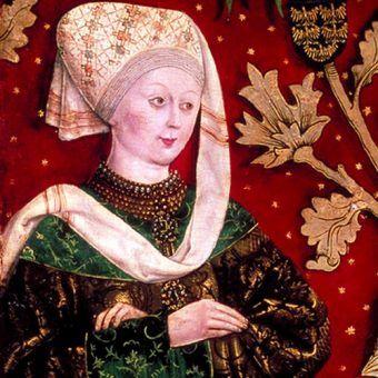 XV-wieczne wyobrażenie Agnieszk Babenberg.