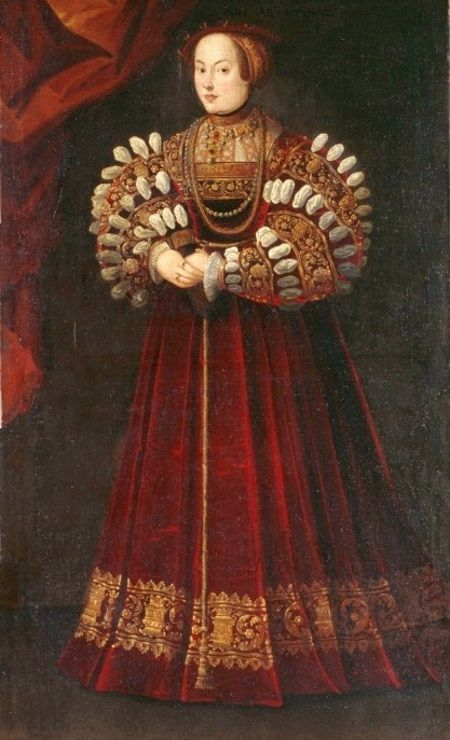 Elżbieta Habsburżanka na portrecie wykonanym po roku 1542
