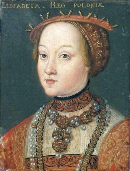 Elżbieta Habsburżanka na portrecie z lat 50. XVI wieku