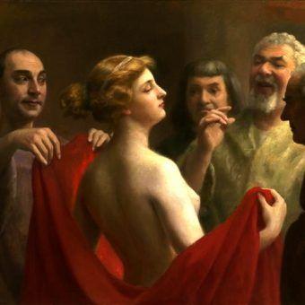Nawet jeśli były kobietami wolnymi, jako prostytutki musiały spełniać każdą męską zachciankę. Na ilustracji obraz José Frappy.