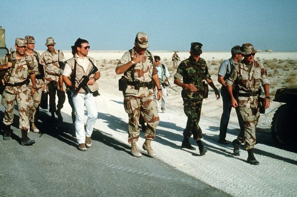 """Operatorzy Delty chronili w czasie operacji """"Pustynna Tarcza"""" w 1990 roku generała Normana Schwarzkopfa, dowódcę sił koalicyjnych (fot. domena publiczna)"""