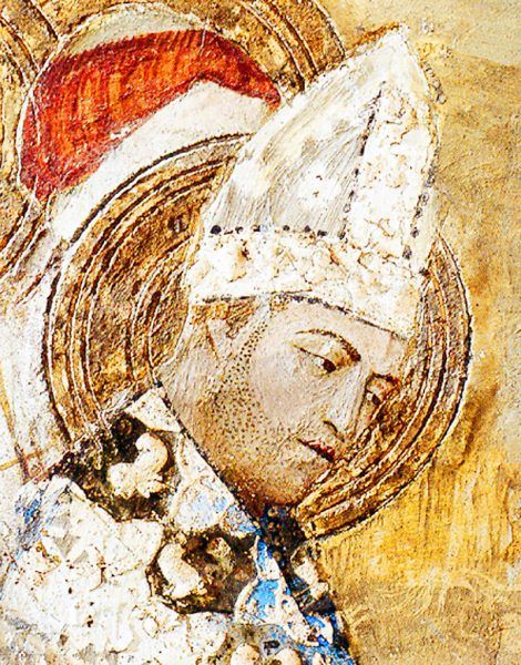 Fresk przedstawiający papieża Klemensa VI