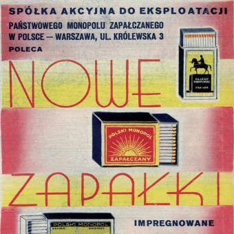 Zapałki - reklama przedwojenna (fot. domena publiczna)