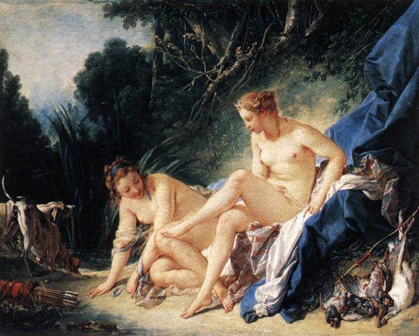 Mitologiczną boginią płodności niosącą pomoc rodzącym kobietom była Artemida (na obrazie Francoisa Bouchera). Starożytni jednak nie tylko modlili się do niej, ale starali się znaleźć praktyczne sposoby na narodziny zdrowego i silnego dziecka.