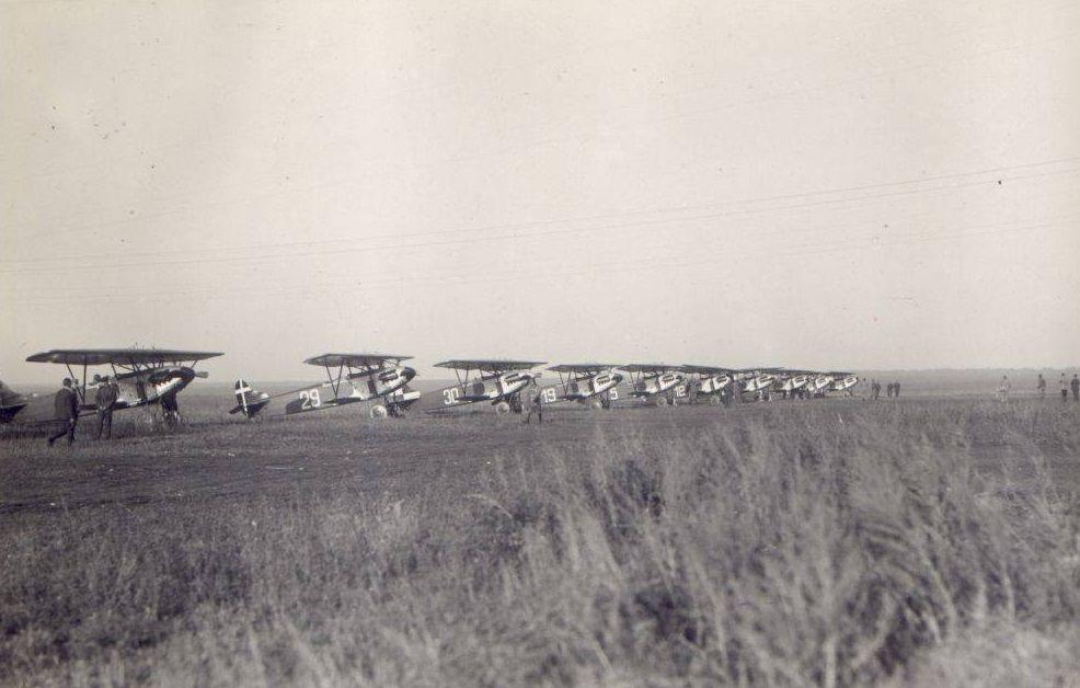 Niemieckie Fokkery D.XIII w tajnym ośrodku lotniczym w Lipiecku (fot. Bundesarchiv, RH 2 2292, Bild Nr.207, lic. CC BY-SA 2.0 de)