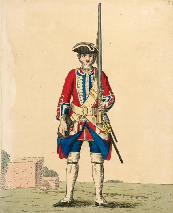 Jak widać strój XVIII-wiecznego rekruta rzeczywiście był dość rzucający się w oczy. Nic dziwnego, że pobudziło to naszych Czytelników do dyskusji.