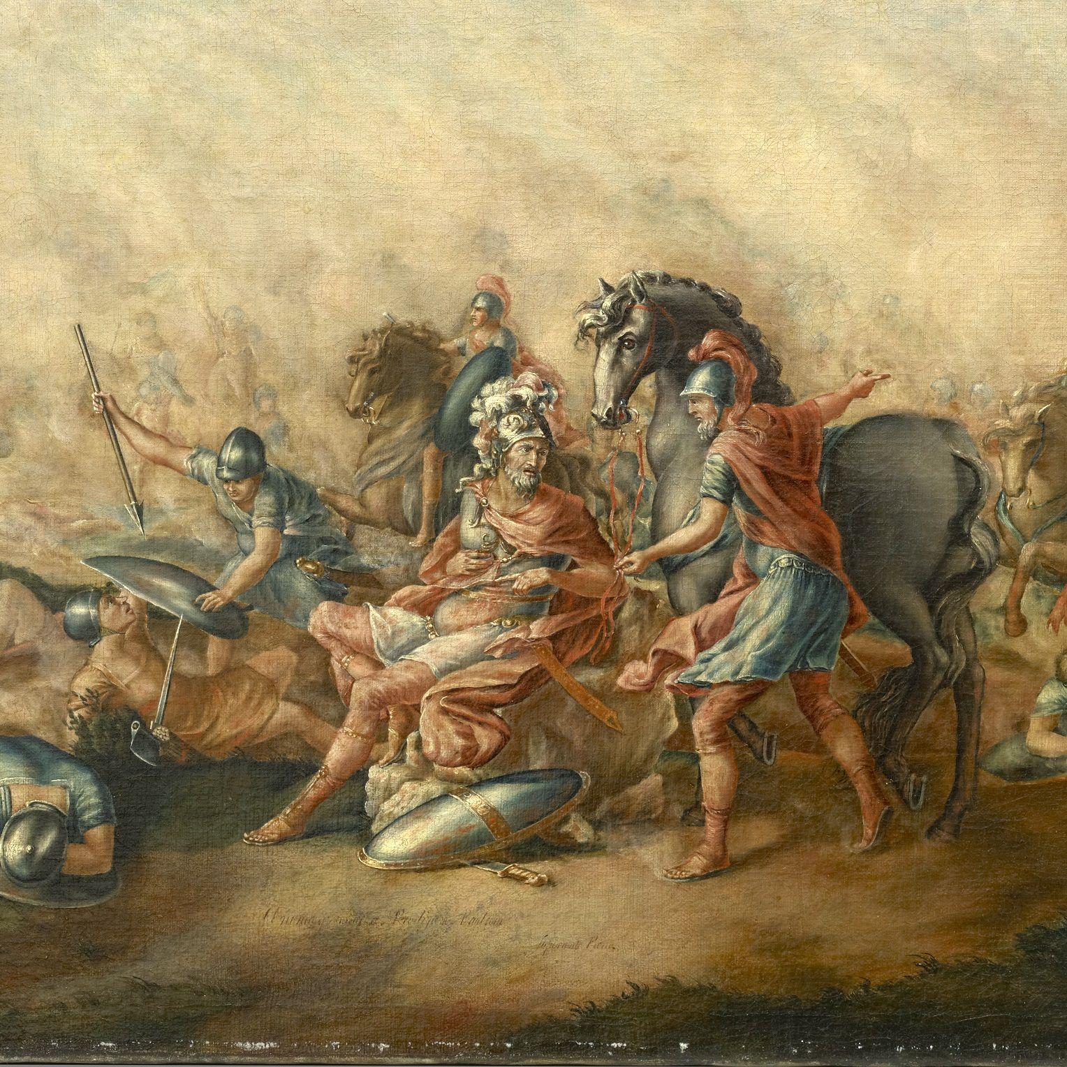 W bitwie zginął między innymi jeden z rzymskich konsulów.