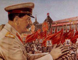 Sympatia Polaków do człowieka, który wymordował ich tysiące? Stalina nie tylko lubiano, ale i kochano. Na ilustracji fragment plakatu propagandowego.