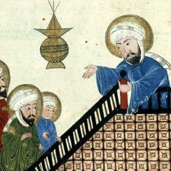 Wino dziełem szatana? Tak uznał ponoć Mahomet. Na ilustracji fragment średniowiecznego rękopisu przedstawiającego proroka głoszącego kazanie.