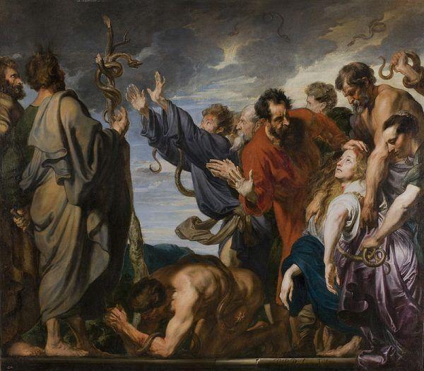 """Nie wiemy o jaki """"naród wybrany"""" chodziło naszemu Czytelnikowi, ale przypominamy obraz Antoona van Dycka przedstawiający jedno z wydarzeń wędrówki Izraelitów."""