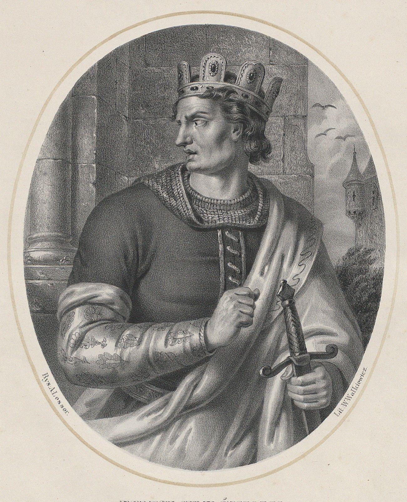 Czy do buntu przeciw Bolesławowi możnych pchnęła obawa, że zostanie on tyranem? Na ilustracji wyobrażenie władcy autorstwa Aleksandra Lessera.
