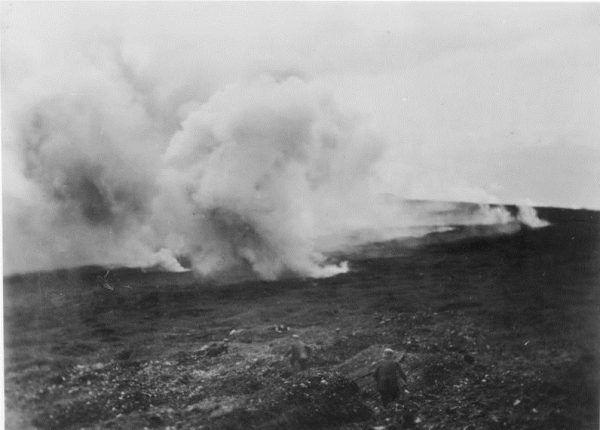 Podczas I wojny światowej po raz pierwszy użyto gazów bojowych.