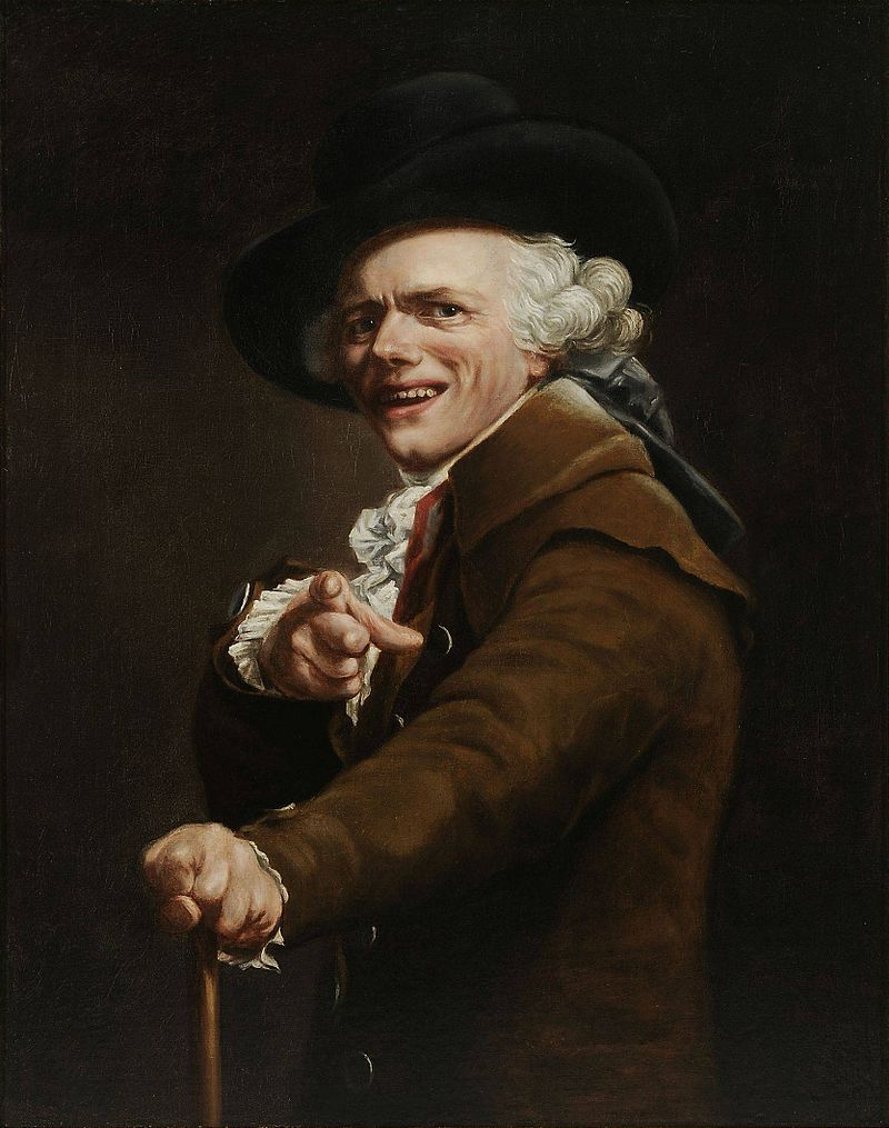 """""""To ja"""". Może gdy Pan Anonim pisał komentarz patrzył w lustro? A może oglądał swój portret? Na ilustracji autoportret Josepha Ducreux (1793 rok)."""