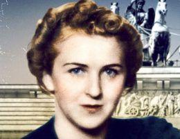 """Ewa Braun trwała u boku Hitlera aż do samobójczej śmierci. Na ilustracji fragment okładki książki """"Spowiedź Ewy Braun""""."""