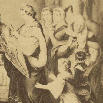 Judyta Maria Szwabska na obrazie autorstwa Aleksandra Lessera.
