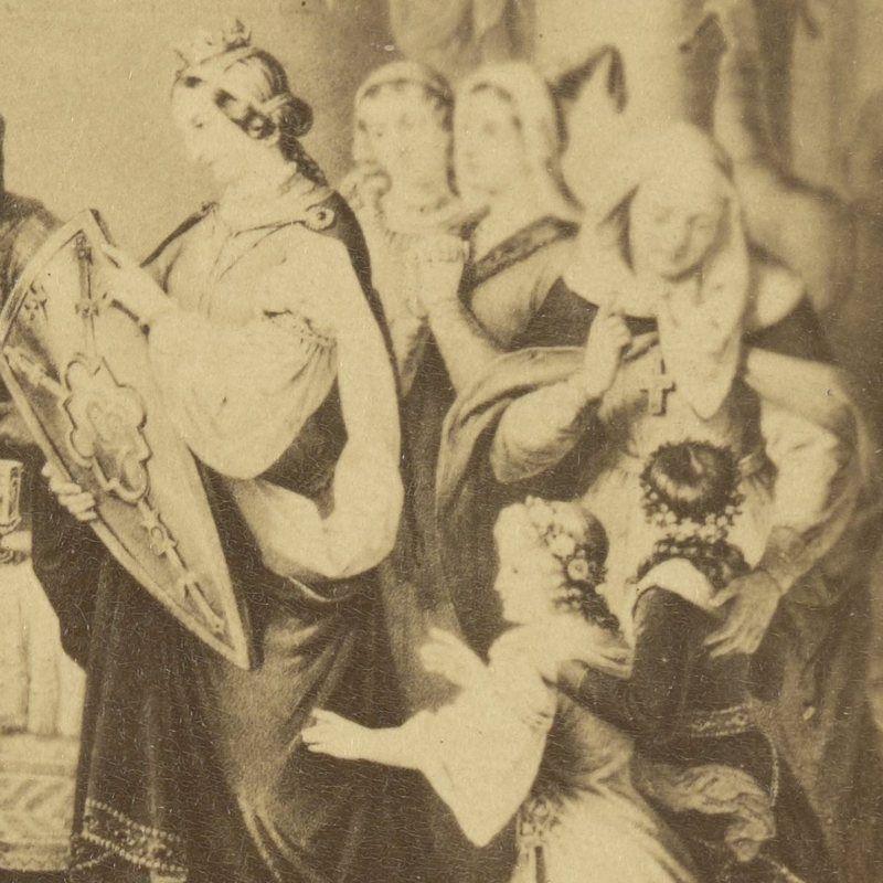 Judyta Maria Szwabska na obrazie Aleksandra Lessera.