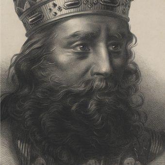 Kazimierz Wielki według wzoru Tytusa Maleszewskiego. Litografia z drugiej połowy XIX wieku.
