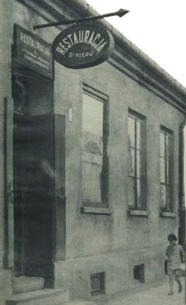 Knajpa przy Czerniakowskiej, do której zaprowadzono porwaną dziewczynkę. Ilustracja z Tajnego Detektywa