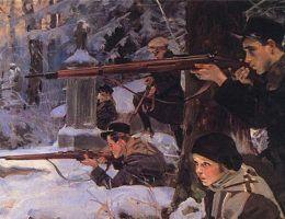 Orlęta lwowskie na obrazie Wojciecha Kossaka