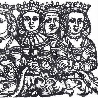 Królowa Sonka pierwsza z prawej (fot. domena publiczna)