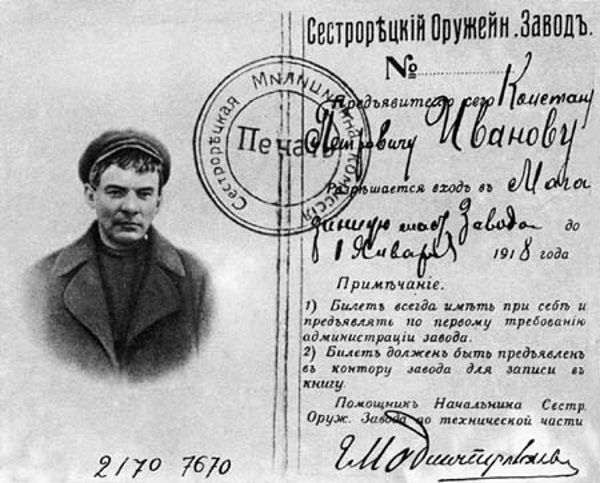 Lenin nieraz podróżował pod przybranym nazwiskiem.