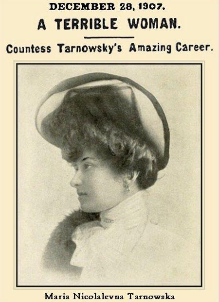Maria Tarnowska na fotografii zamieszczonej w prasie