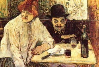 """Obraz """"W Café La Mie"""", Henri de Toulouse-Lautrec (fot. domena publiczna)"""