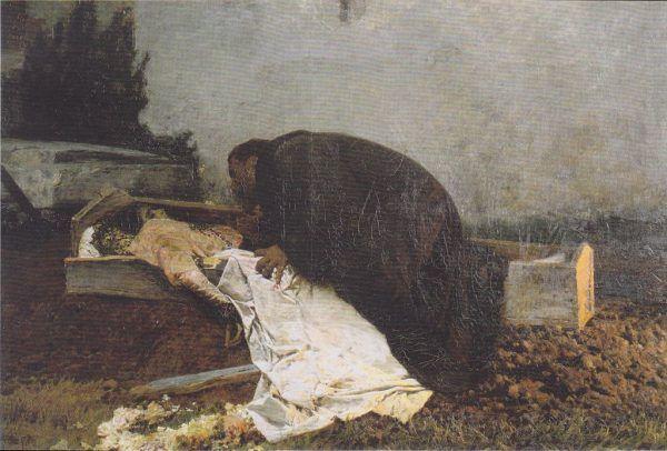 Pietro Pajetta, Nienawiść. Obraz z 1896 roku