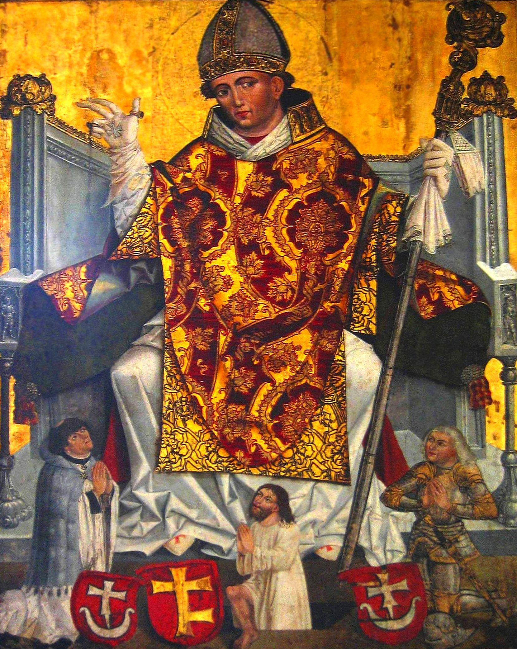 Wbrew legendzie Bolesław wcale nie zarąbał własnoręcznie biskupa Stanisława. Skazał go jednak na obcięcie członków. Na ilustracji Obraz przedstawiający Stanisława z około 1490 roku. Znajduje się o w klasztorze franciszkanów w Krakowie.