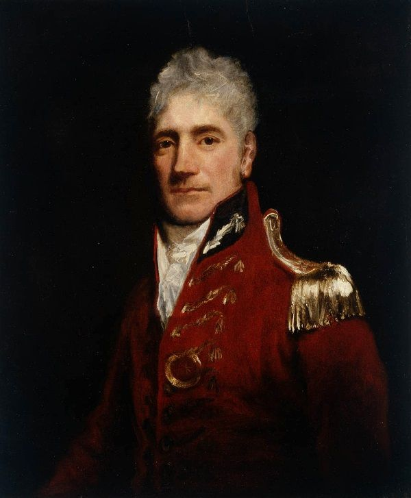 Sprytny gubernator Lachlan Macquarie.