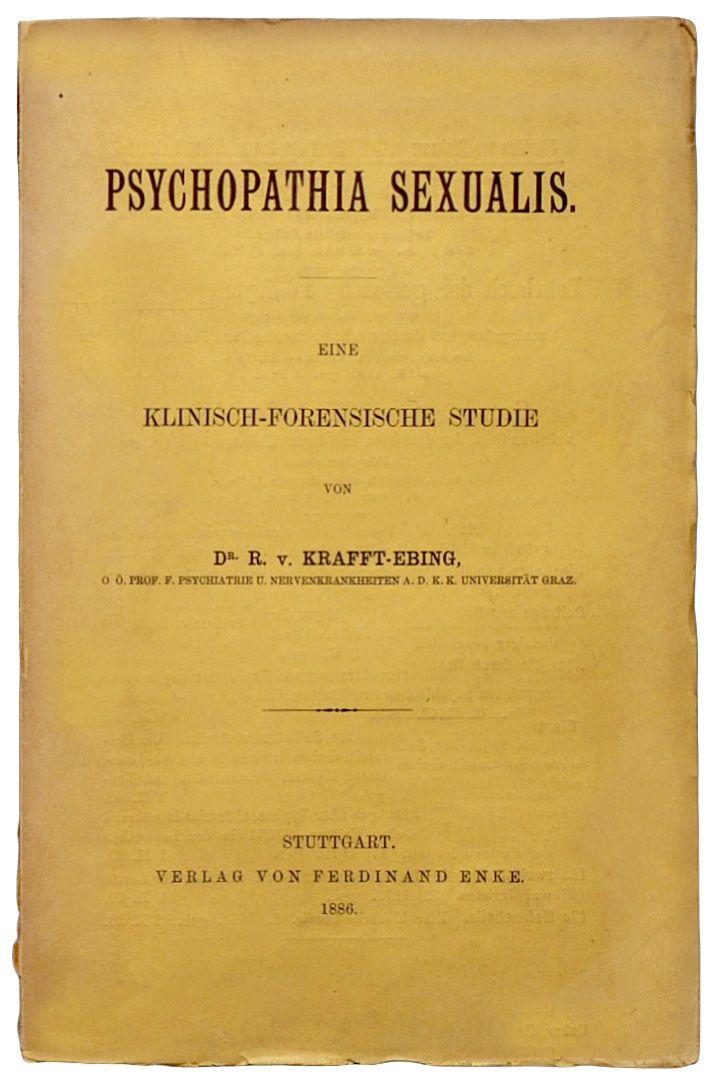 Strona tytułowa pierwszego wydania przełomowej pracy Kraffta-Ebinga.
