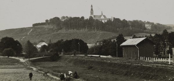 Widok na Alwernię. Fotografia z początku XX wieku