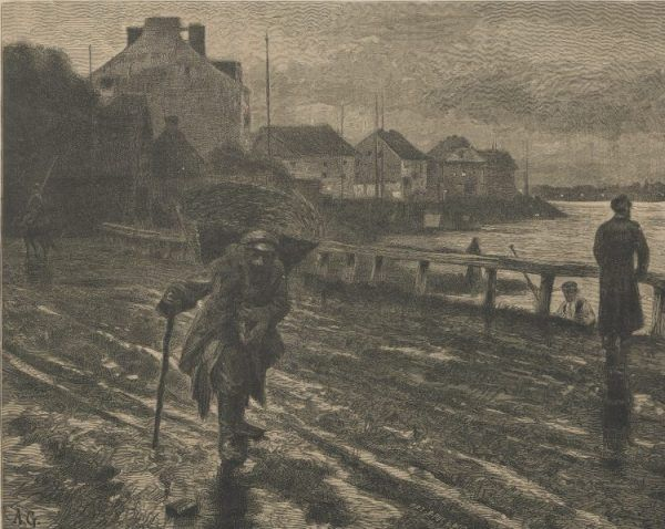 Widok na Solec z ulicy Czerniakowskiej. Grafika z końca XIX wieku. Aż tak wiele się tu przez kolejne lata nie zmieniło...