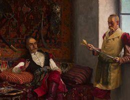 Czyżby zarozumiałość niektórych była szlachecką spuścizną. Obraz Henryka Weyssenhoffa.