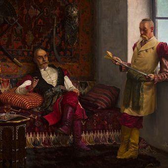 Czyżby zarozumiałość niektórych była szlachecką spuścizną? Obraz Henryka Weyssenhoffa.