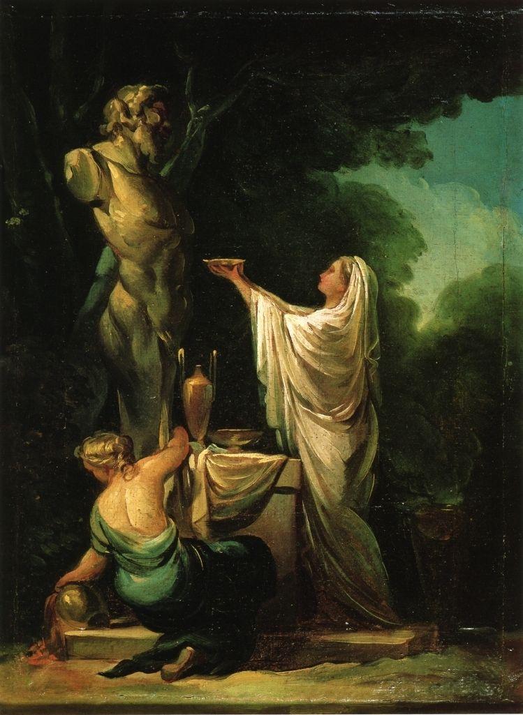 Nie wszyscy bogowie zadowalali się ofiarą z napoju czy pokarmu. Na zdjęciu obraz Francisco Goya Ofiara dla Priapa.
