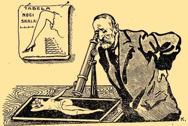 "Ilustracja z pisma ""Amorek"", 1924 rok."