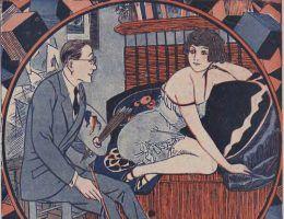 Ilustracja z pisma Wolna myśl, wolne żarty. 1930 rok
