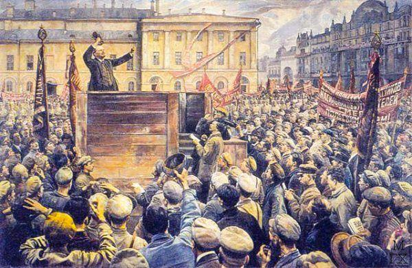 Przywódcy rewolucji październikowej wiedzieli, że za pomocą odpowiednich słów mogą poderwać tłum do walki.